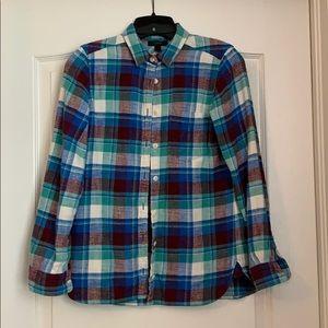 Jcrew flannel plaid button down
